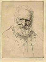 Victor Hugo, by Alphonse Legros