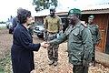 Leila Zerrougui with general Mbangu.jpg