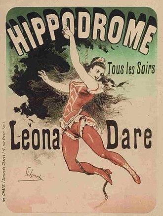 Jules Chéret - Image: Leona Dare Hippodrome 1883