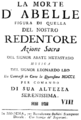 Leonardo Leo - La morte d'Abelle - titlepage of the libretto - Modena 1750.png