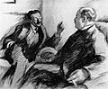 Leonid Pasternak. Chajim Nachman Bialik and David Frischmann. 1920.jpg