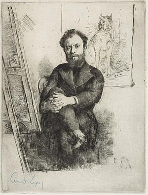 Ludovic-Napoléon Lepic - Etching by Marcellin-Gilbert Desboutin, c.1876
