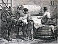 """Les merveilles de l'industrie, 1873 """"Machine à refendre les peaux fralches"""". (4727188440).jpg"""