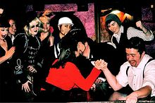 Lesburlesque and drag king armwrestle image1.jpg
