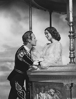 Romeo and Juliet on screen - Leslie Howard as Romeo and Norma Shearer as Juliet, in the 1936 MGM film directed by George Cukor.