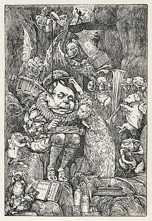 "Seventh of Henry Holiday's original illustrations to ""The Hunting of the Snark"" by Lewis Carroll."