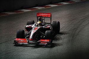 2009 Singapore Grand Prix - Lewis Hamilton took pole position for McLaren.