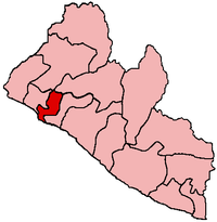 Location of Montserrado County in Liberia