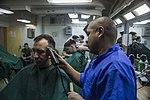 Life on the ship, Barber Shop 160308-M-CX588-014.jpg