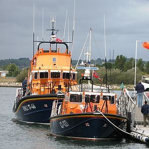 Appledore Lifeboat Station - Image: Lifeboats 17 46 and 47 027 at Poole