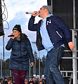 Linda Pira och rapparen Stor i Kärrtorp 2013.jpg