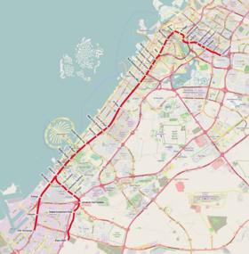 الخط الأحمر مترو دبي ويكيبيديا