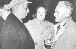 Edgar Snow - Edgar Snow with Mao Zedong and Liu Shaoqi in Beijing in 1960.