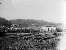 Llanfihangel Genau'r-glyn (Llandre) station NLW3361279.jpg