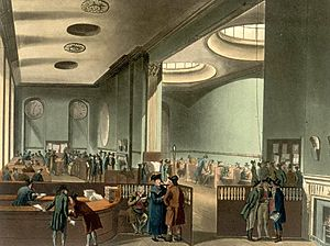 Lloyd's of London - The Subscription Room in the early 19th century