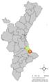 Localització de la Font d'En Carròs respecte del País Valencià.png