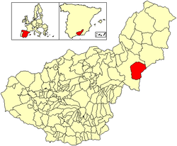 Location of Caniles