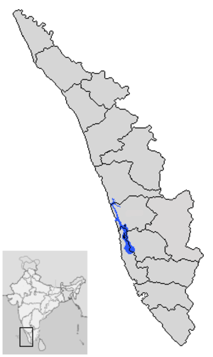 Vembanad - Location in Kerala