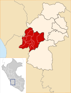 Location of the province Castrovirreyna in Huancavelica.svg