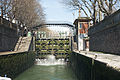 Lock on Canal Saint-Martin, Paris 7 April 2015.jpg