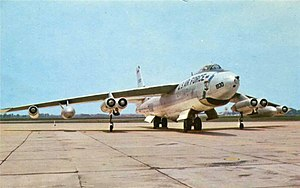 Lockheed-Marietta B-47E Stratojet 53-1830 parked at Langley Air Force Base.jpg