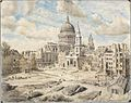 London Clearance of debris between Gresham Street and St Paul's 1941 (Art.IWM ART LD 2214).jpg