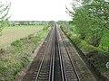 Looking E along railway line towards Ashford - geograph.org.uk - 1272623.jpg