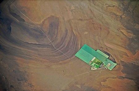 Lop Nur and the potash fertilizer production plant