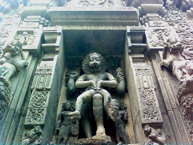 File:Lord narasimha rock statue backyard simhachalam temple.jpg