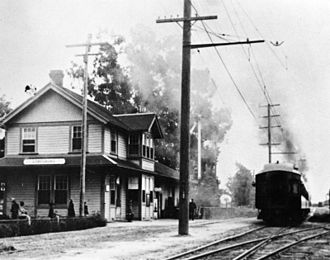 La Verne, California - The Lordsburg Pacific Electric station, 1922