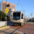 Los Angeles Metro Gold Line arrives at the Little Tokyo station.png