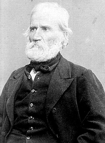 Louis Auguste Blanqui, leader of the Commune's far-left faction, was imprisoned for the entire time of the Commune. Louis Auguste Blanqui.JPG