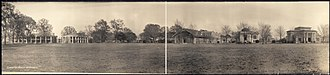 Louisiana State University - A panorama of the LSU campus in 1909