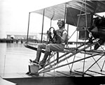 Lt. Commander William M. Corry on seaplane- Pensacola, Florida (4055965055).jpg