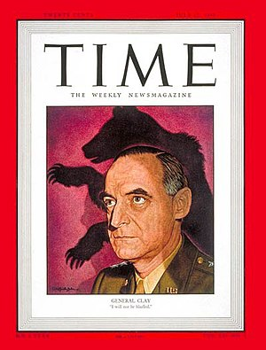 Lucius D. Clay - Clay on the cover of Time (July 12, 1948)
