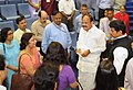 M. Venkaiah Naidu interacting with the senior officers of the Ministry of Information & Broadcasting and Media Units, in New Delhi.jpg