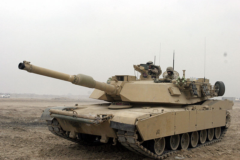 File:M1A1 Abrams Tank in Camp Fallujah.JPEG