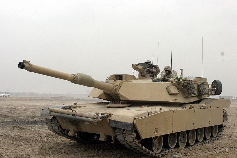 Файл:M1A1 Abrams Tank in Camp Fallujah.JPEG