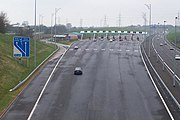 The toll plaza on the M6 Toll at Great Wyrley.