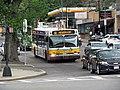 MBTA route 86 bus at Cleveland Circle, May 2017.JPG