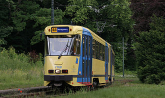 PCC streetcar - Later European versions, like this model in Brussels, had a boxier shape.