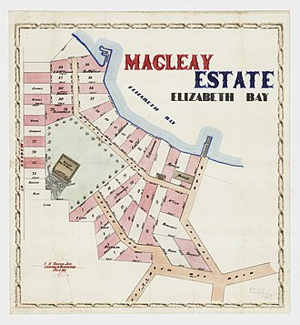 Elizabeth Bay, New South Wales - Image: Macleay Estate Elizabeth Bay Elizabeth Bay, Macley St, Ithaca Rd, Onslow Lane