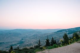 Madaba Hills from Mount Nebo at Sunrise.jpg