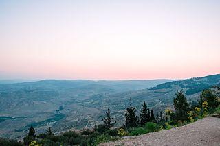 Abarim mountain range in Jordan