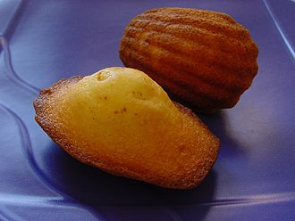 Comfort food - A madeleine. A madeleine de Proust  is a French expression specifically referring to Marcel Proust's description of comfort food in In Search of Lost Time.
