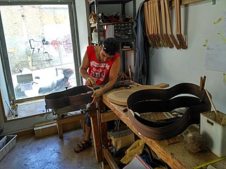 Luthier - A luthier building classical guitars in Madrid, Spain.