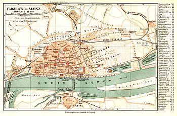 Mainz Wikipedia - Germany map mainz