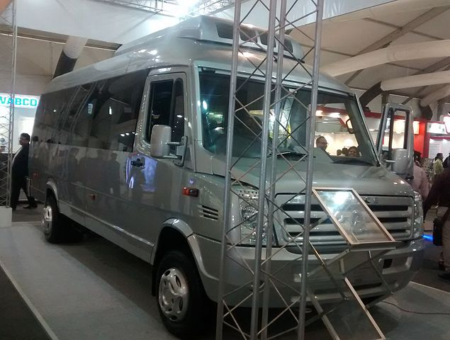 An airconditioned minivan built by Force Motors.