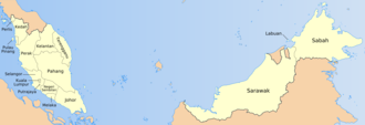 1963 in Malaysia - Map of the states of Malaysia