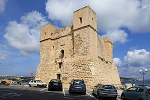 History of Malta under the Order of Saint John - Wignacourt Tower, the oldest surviving watchtower in Malta.